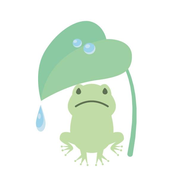雨の中の私